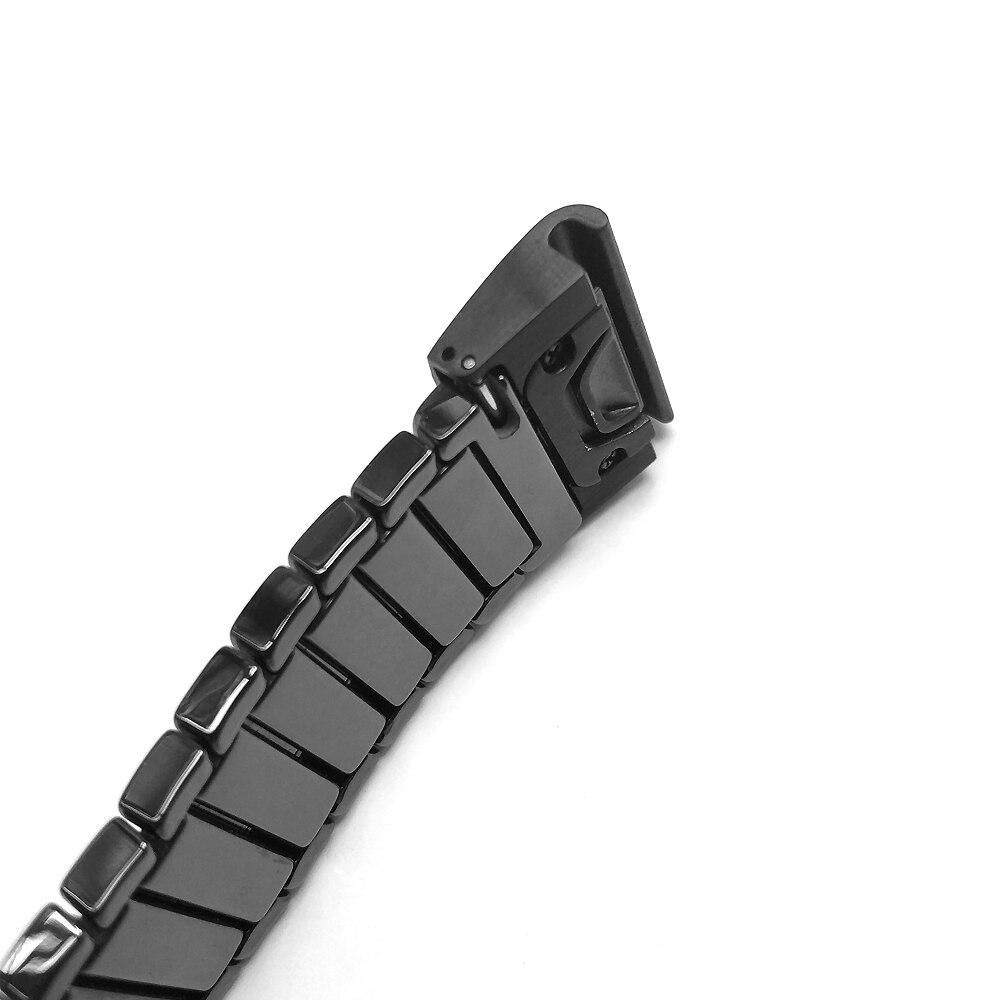 Metal ajuste rápido borboleta fivela pulseira cerâmica
