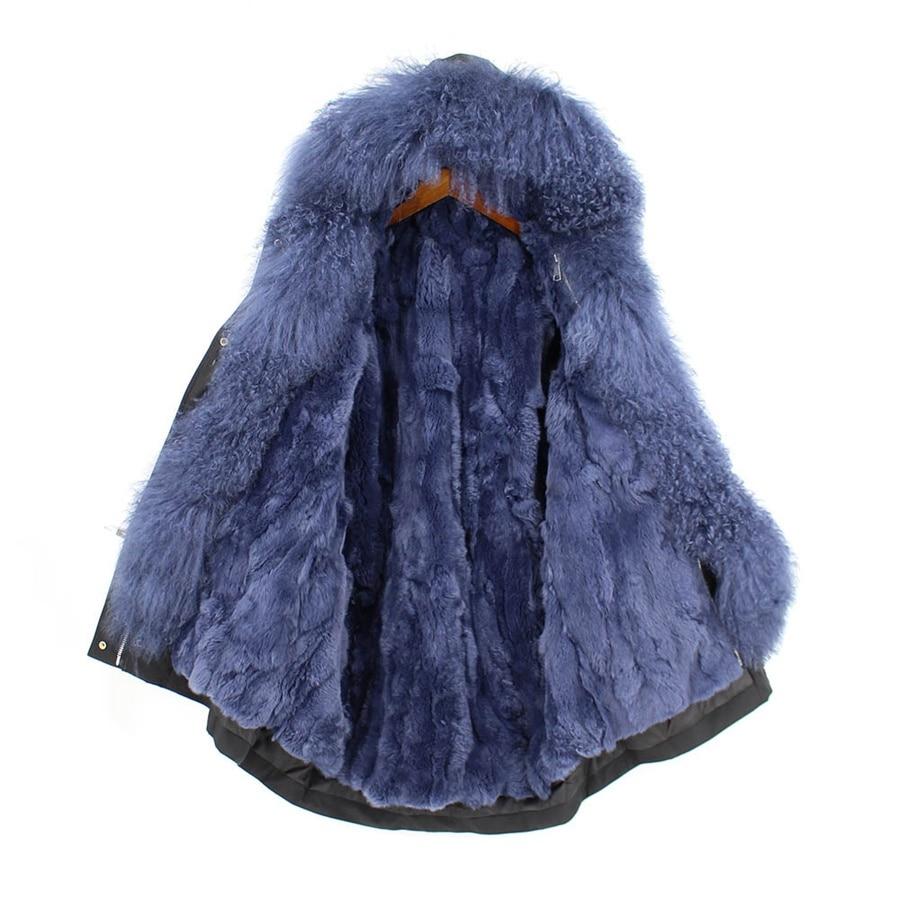 Parent-childs natural fur parkas with hood (19)