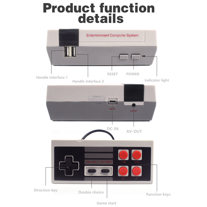 Image 3 - DATA FROG TV Video Game Console Built In 620 Games 8 Bit Retro Game Console Handheld Gaming Player Best Gift free shipping-in Handheld Game Players from Consumer Electronics