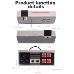Image 4 - DATA FROG TV Video Game Console Built In 620 Games 8 Bit Retro Game Console Handheld Gaming Player Best Gift free shipping