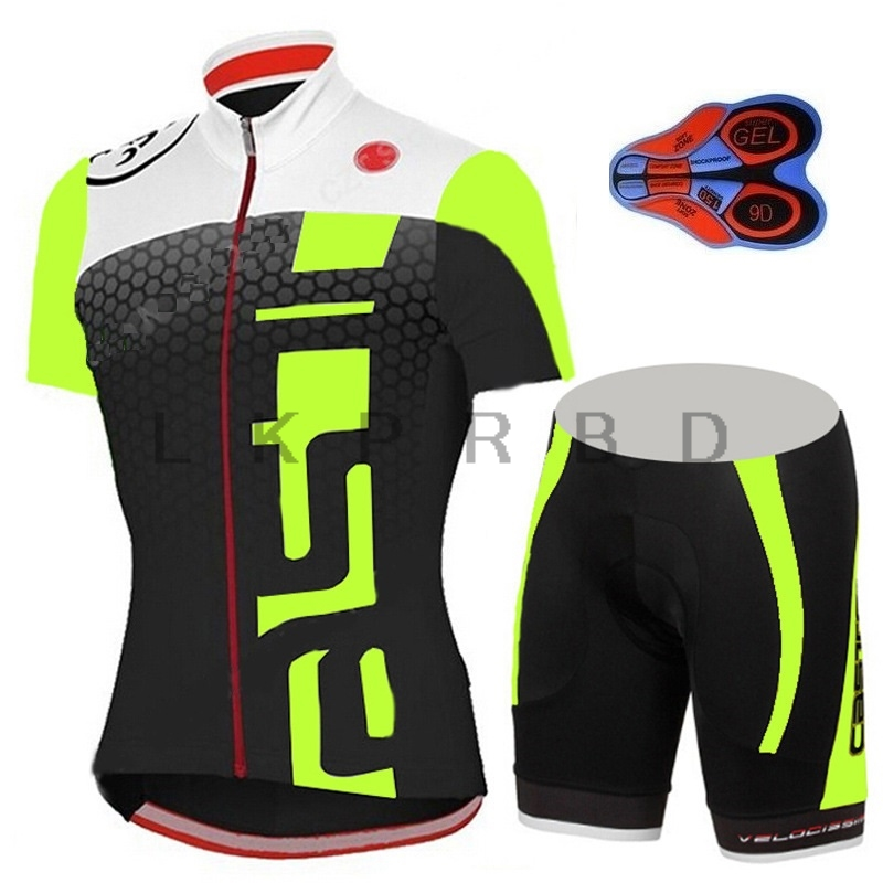 Quick-dry 9D GEL 2019 Pro Team Red White MTB Bike Clothes Sport Jerseys  Summer d95495cd3