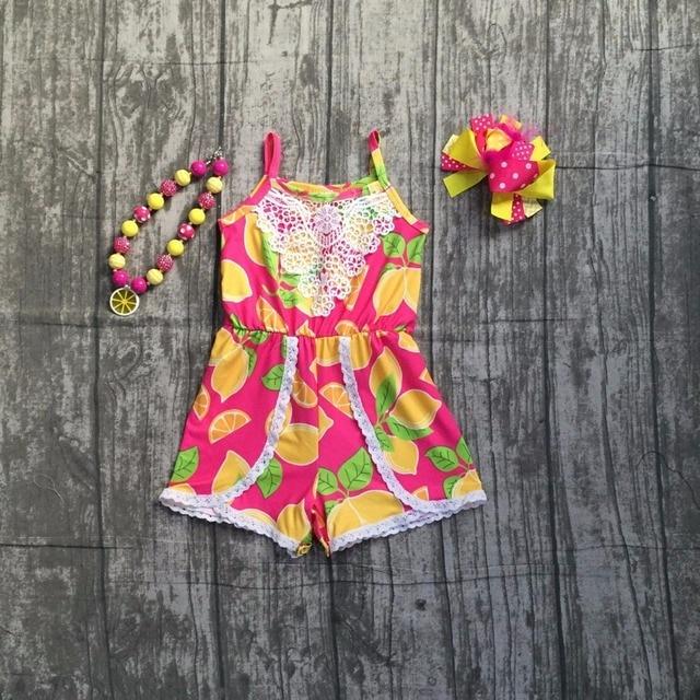 561a2b868 baby girls infant toddler girls lemon romper baby girls summer milksilk  clothes children girls lemon outifts with accessories