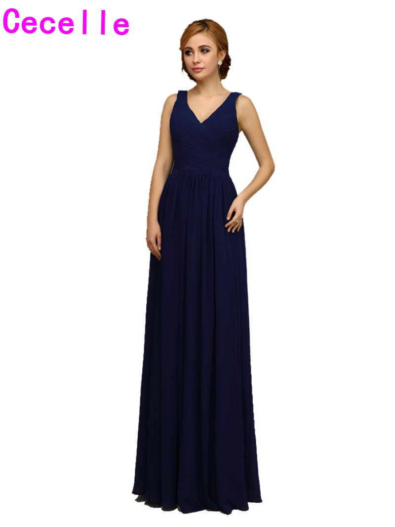2017 real navy blue long bridesmaids dresses v neck tank straps 2017 real navy blue long bridesmaids dresses v neck tank straps wedding party dress floor length a line chiffon bridesmaid robes in bridesmaid dresses from ombrellifo Choice Image