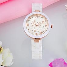 Marque KEZZI 30 m La Vie Imperméable À L'eau Réel Céramique Bracelet Rivets Diamants L'astronomie Satellite Femelle Poignet montres De Luxe Quartz Montre