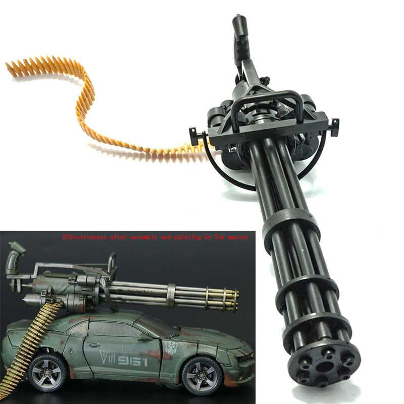 مجسم أكشن مقاس 1/6 مقاس 12 بوصة طراز M134 Gatling Minigun منهي T800 رشاشات ثقيلة + حزام رصاصة هدية للأطفال