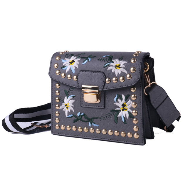 d0cdf79163 COOL WALKER Brand Designer 2017 Women's PU Leather Vintage Single Shoulder  Bag Rivet Women Crossbody Bags Handbags For Ladies