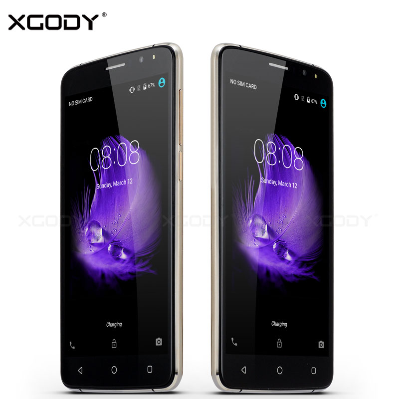 bilder für XGODY 3G Smartphone 6,0 zoll Quad Core 512 MB RAM + 8 GB ROM unterstützung GPS WiFi 5MP Y17 Telefone Celular 3G Touch Android handys