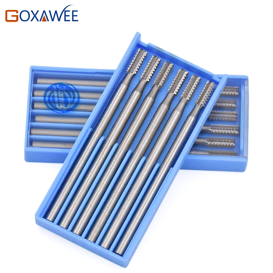 Cylinder 36# Steel Burs Rotary Tools For Carving Nuts 009#014# 018# 023# For Dremel Accessories Tools Mini Drill Power Tools