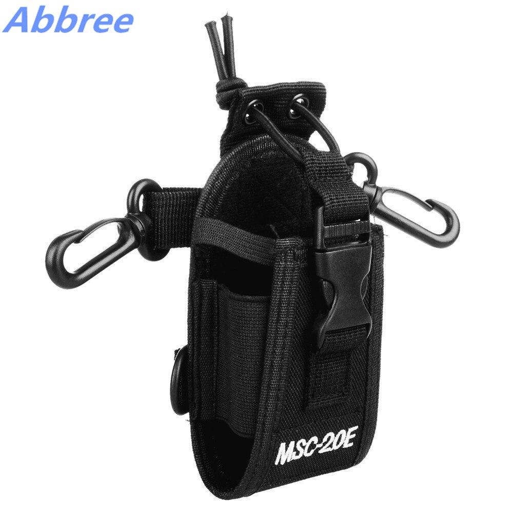 Abbree MSC-20E Portable Walkie Talkie Nylon Case Cover Handsfree Holder for Baofeng UV-XR UV-9R TYT Woxun Motorola Icom Radio