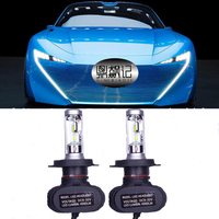 2Pcs H4 Led Headlight S1 N1 50W 8000LM 6000K Automobile Bulb All In One CSP Lumileds