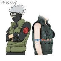 Japoński Anime Ninja Płaszcz shinobi Kakashi Naruto Cosplay Costume Cosplay Cartoon Zielona Kamizelka Na Pokaz Człowiek Fancy Dorosłych
