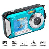2.7inch TFT Digital Camera Waterproof 24MP MAX 1080P Double Screen 16x Digital Zoom Camcorder HD268 Underwater Camera