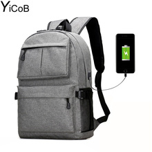 YiCoB Men Women Multifunction Business Backpack USB Charging Port Large Capacity Travel Laptop Students School Bags Rucksack HOT