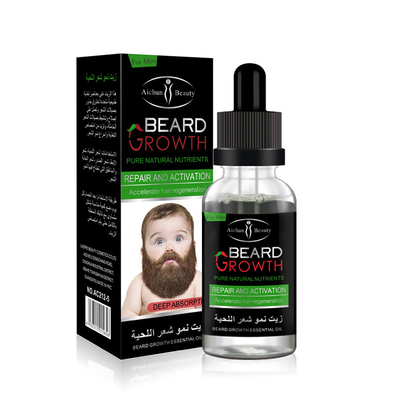 Brand New Natural Organic Beard Oil Beard Wax Hair Loss Products Leave-In Conditioner for Groomed Beard Growth 30ML
