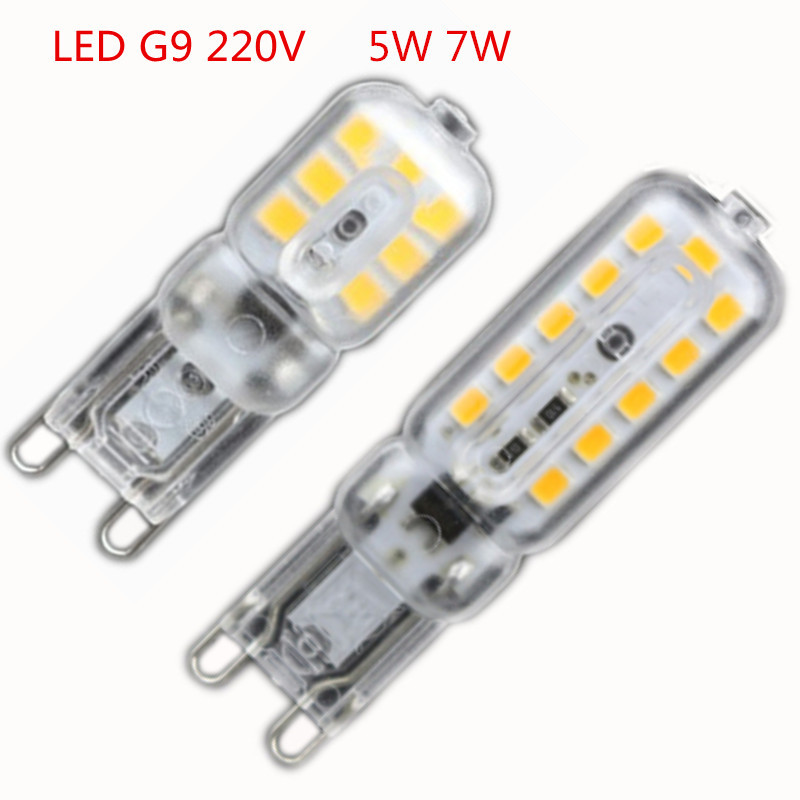 1x mini led g9 light 5w 7w smd2835 g9 led lamp 220v 240v led bulb lampada - G9 Led Bulb