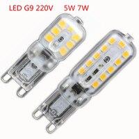 1X Mini LED G9 Light 5W 7W SMD2835 G9 LED Lamp 220V 240V LED Bulb Lampada