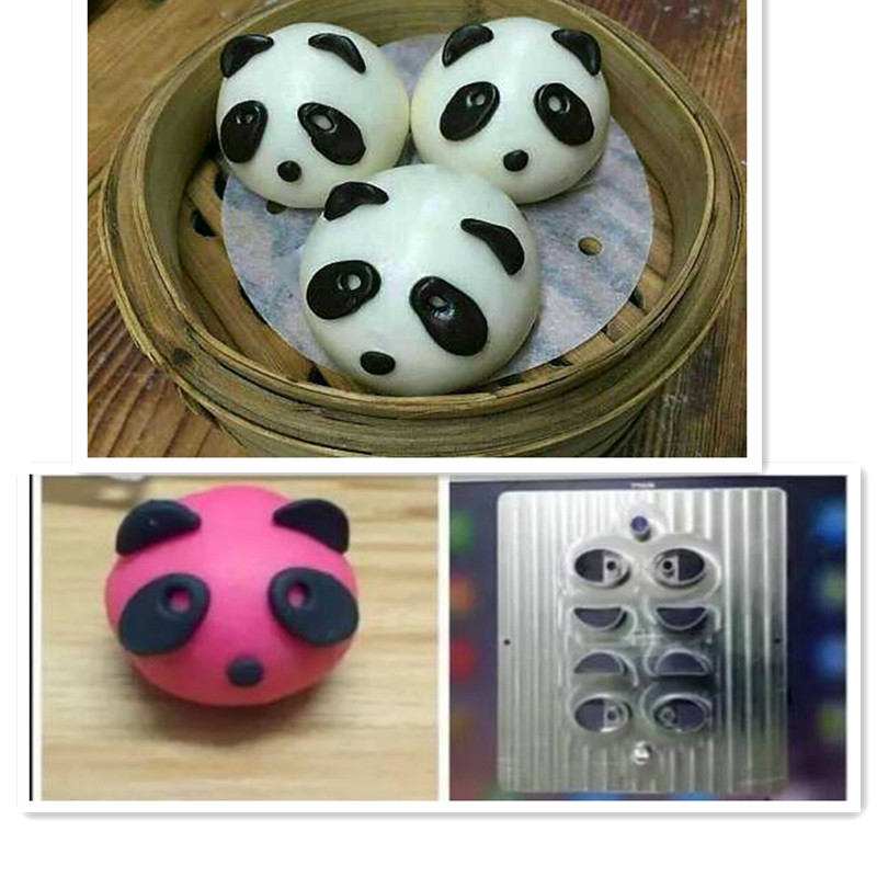 Hongkong Style Dessert Children Cartoon Panda Shaped Steamed Buns Mold Fancy Pastry Steamed Bread Panda Mould
