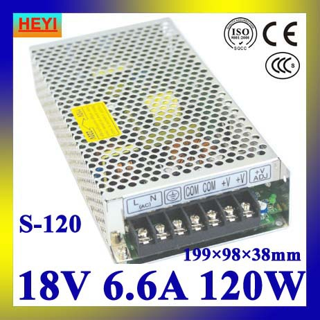 single output switching power supply 18V 6.6A 100~120V/200~240V AC input LED power supply 120W 18V transformer led power supply 27v 13a 100 120v 200 240v ac input single output switching power supply 350w 27v transformer