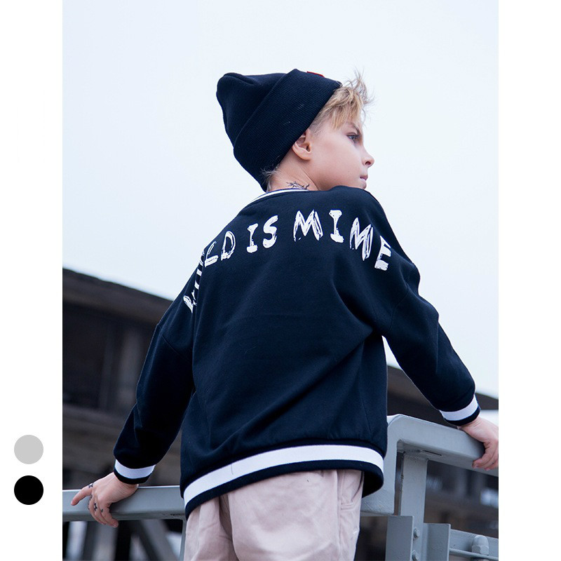 Spring Baby Boy Sweaters Teen Long Sleeve Striped Sweater 2018 Fashion Boys Shirt Loose Classic Black and White Hoodies 8-13Y alfani new black long sleeve crewneck sweater m $49 5 dbfl