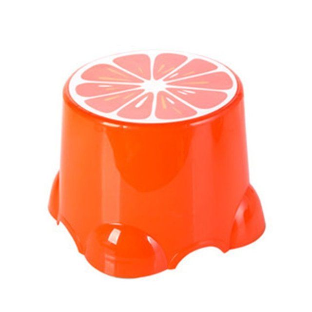 4 Colors Lovely Stools Fruit Pattern Living Room Non-slip Bath Bench Child Stool Changing Shoes Stool 5