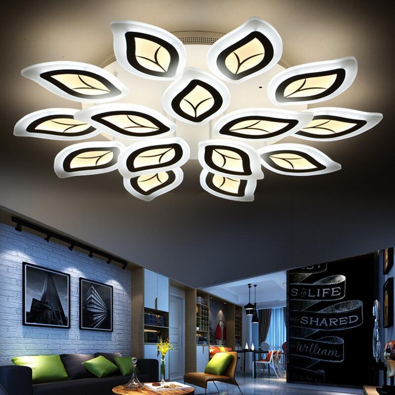 Us 2600 Kreatywny Lustre Nowoczesne Led Oprawy Oświetlenia Sufitowego Akrylowe Ultra Cienki Oświetlenie Domu Dekoracyjne Lampa Do Salonu W