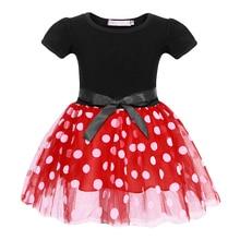 AmzBarley Little Girls tutu Dress Cotton mesh Dot Bowknot princess with headband Birthday Party Outfit children Ball Gown