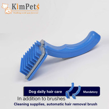 Manufacturers direct sale of pet push hair comb large dog massage brush grooming cleaning supplies wholesale spot