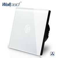 Wallpad EU Standard Touch Switch AC 110 250V Fan Speed Regulator Touch Switch White Wall Light