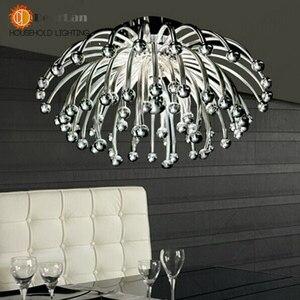Image 4 - Criativo moderno Candeeiros de Tecto, prata Banhado Acrílico Coral Luzes Para Sala/Quarto/Cozinha Sala Para Decoração (XP 50)