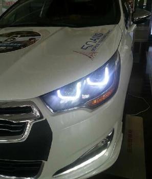 Car Styling for Citroen c4l Headlights 2013-2015 Citroen C4L LED Headlight DRL Bi Xenon Lens High Low Beam HID Parking Fog Lamp