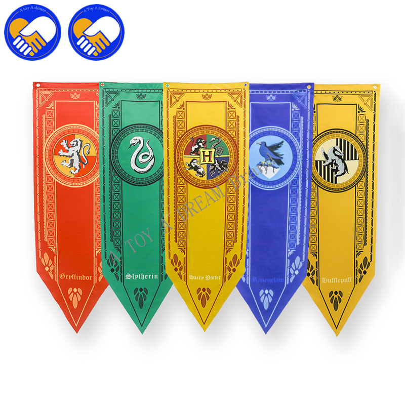 Wholesale 5Pcs/set Harri Potter Party Supplies College Flag Banners Boys Girls Kids Halloween Decoration Best Xmas Birthday Gift