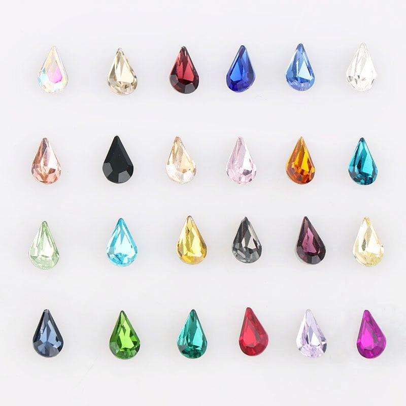 Nails Art & Werkzeuge Pflichtbewusst 20 Stücke 6x10mm Mix Farbe Waterdrop Spitzen Kristall Fancy Glas Stein Für Diy Nail Art/hochzeit Kleid/schmuck Dekoration Neueste Technik