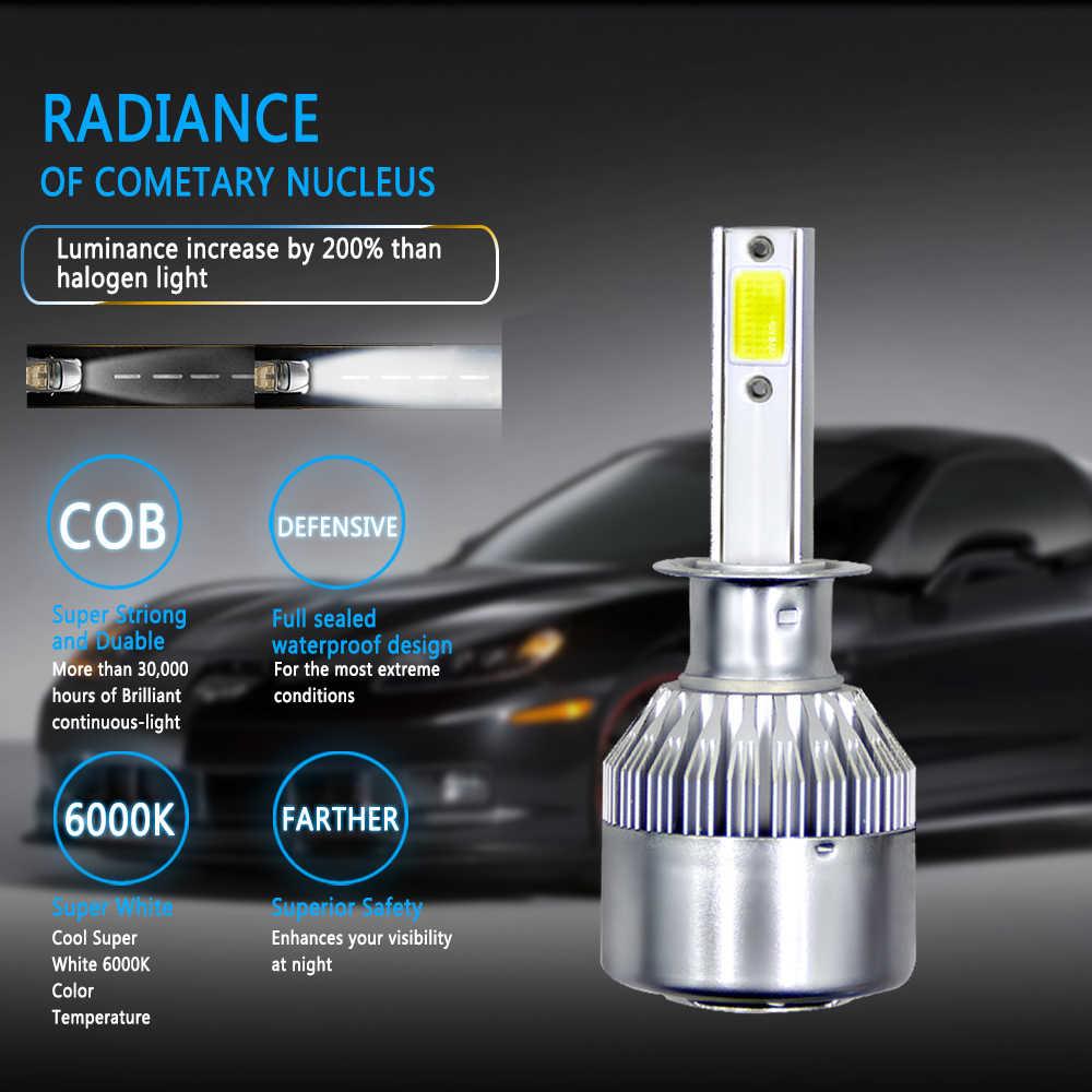 2PCS LED Mini Car headlight Light Bulbs H1 LED H7 H8 H11 Fog Lamps 9005 HB3 9006 HB4 Auto 12V 24V 72W/Pair 8000LM/Set Lamps Kit