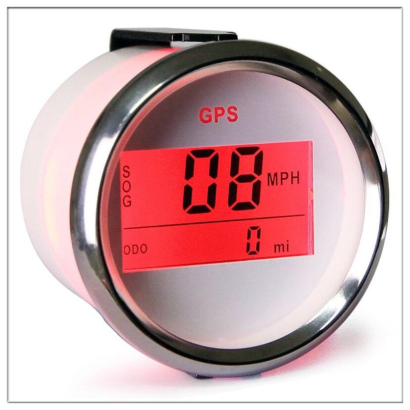 Compteur de vitesse de voiture numérique 52 mm GPS odomètre LCD affichage mille par heure nœuds compteur pour bateau avec rétro-éclairage 12 V 24 V