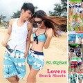 21 моделей! мода любителей пляжного отдыха шорты пара мужчины женщины пляжные брюки для Любителей ствол L-XXL 2 шт. оптовая Бесплатная доставка