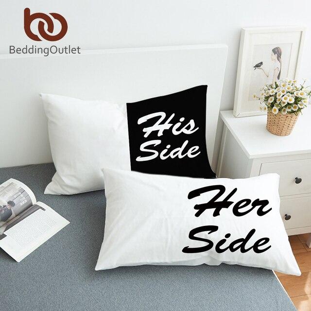 Bett Kissen beddingoutlet schwarz und weiß bett kissen fall weiche kissenbezug