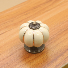 10pcs ivory white pumpkin door knobs cabinet pull handle cute drawer pull knob cupboard wardrobe closet