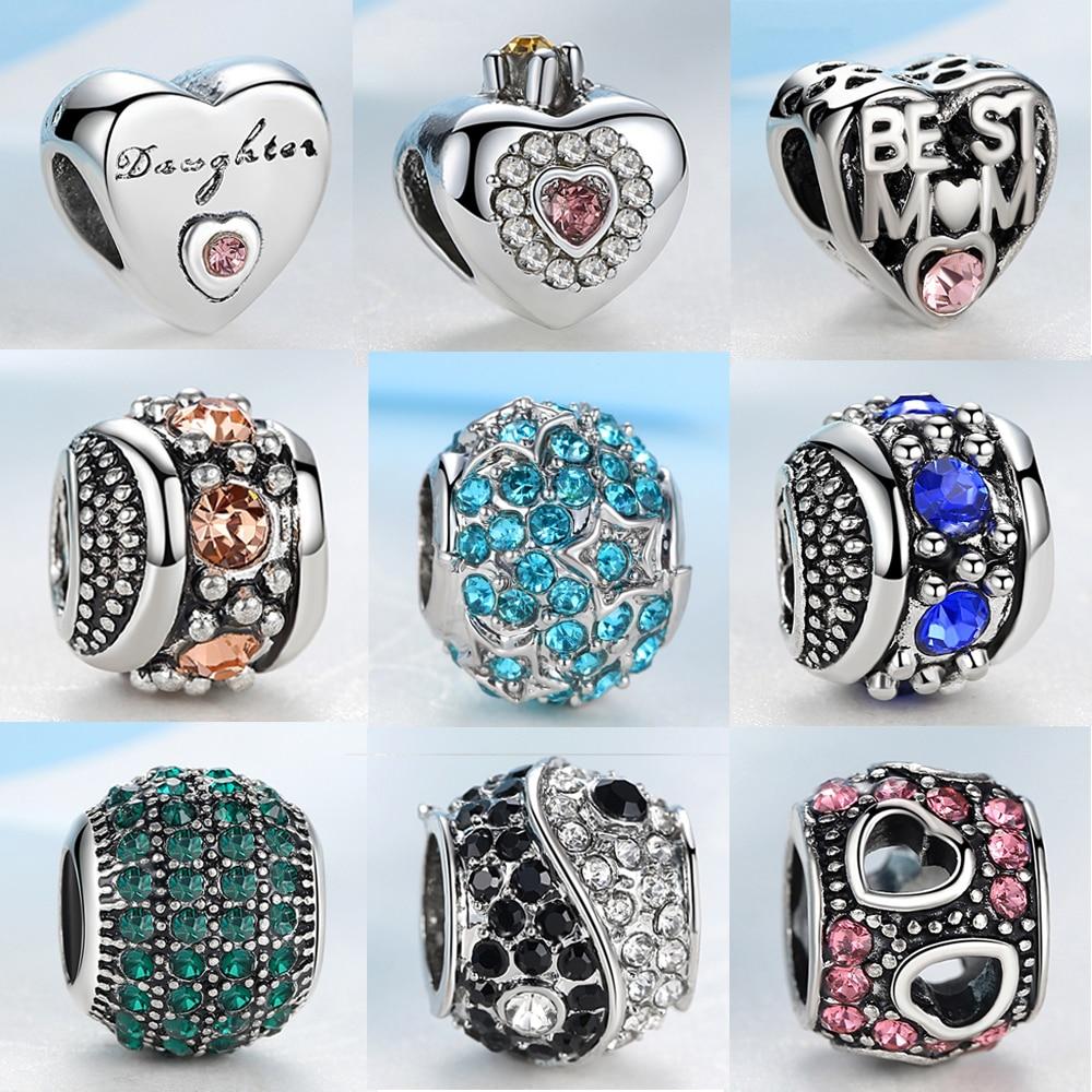 NBSAMENG DIY Color Crystal Bead Original Charms Beads Fit Pandora Bracelet Bangle Czech beads Necklace jewelry Oranger Blossom