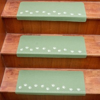 5pcs Anti Skid Stairway Treads Adhesive Night Luminous Staircase Rugs Pads For Home Decor