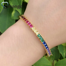 5Pcs,Bangles, Women Fashion Jewelry,2019 New Arrival! The Rainbow Series, 2 colors,Can Wholesale