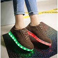 Winter Led Shoes For Women Warm Plush Women Casual Shoes Colorful Led Luminous Light Up Women Shoes USB Charging zapatos mujer
