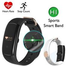 Монитор сердечного ритма браслеты Bluetooth 4.0 OLED SmartBand H1 активности фитнес-трекер Водонепроницаемый IP68 Шагомер умный Браслет