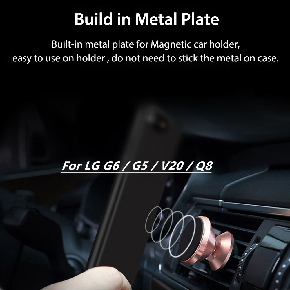 US $3 67 8% OFF|FM HGQ Magnetic Car Case Hard Back Matte PC plastic Case  For LG G6 G5 Case for lg V20 Q8 Case Full Cover Phone Funda Coque-in Fitted