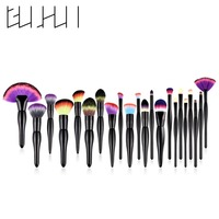 22Pcs Pro Colorful Makeup Brushes Set Foundation Loose Powder Concealer Blush Eyeshadow Eyeliner Lip Cosmetics Brushes