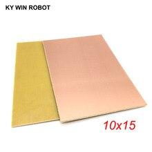 1 шт. FR4 PCB 10*15 см односторонняя медная плакированная пластина DIY PCB Kit ламинированная печатная плата 10x15 см 100x150x1,5 мм