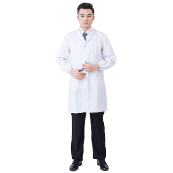 White Lab Coat Medical Laboratory Unisex Warehouse Doctor Work Wear Hospital Technician Uniform Clothes