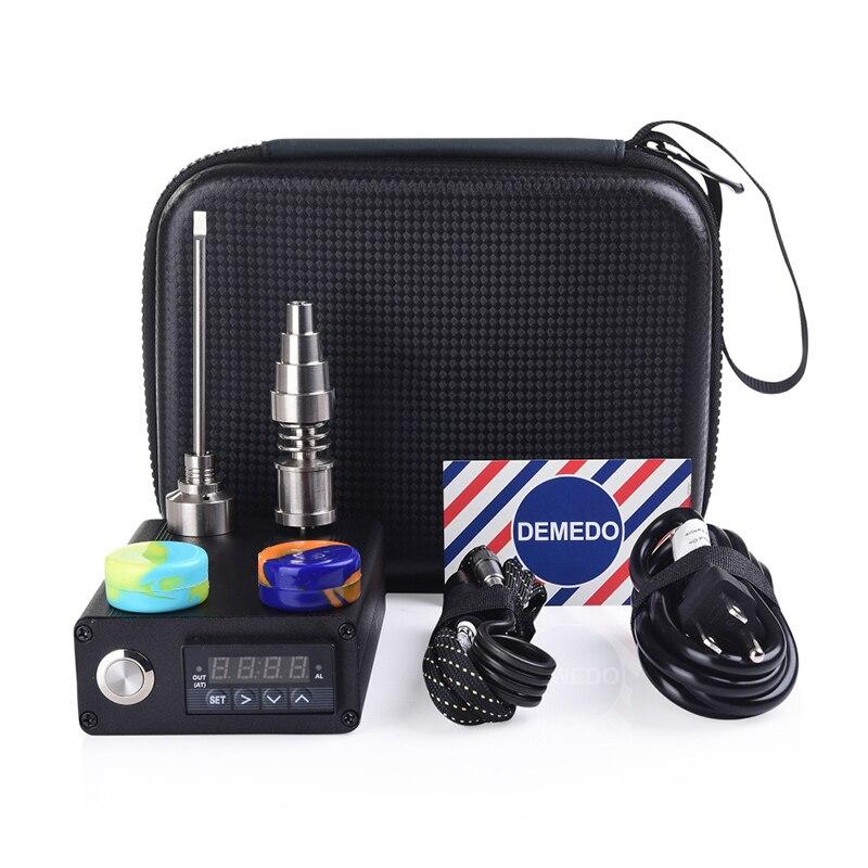 Électrique 20mm Titane Enail Kit Avec clou Titane Chapeau Dabber De Contrôle de la Température PID Silicone Pot Enail Dab E Clou De Quartz