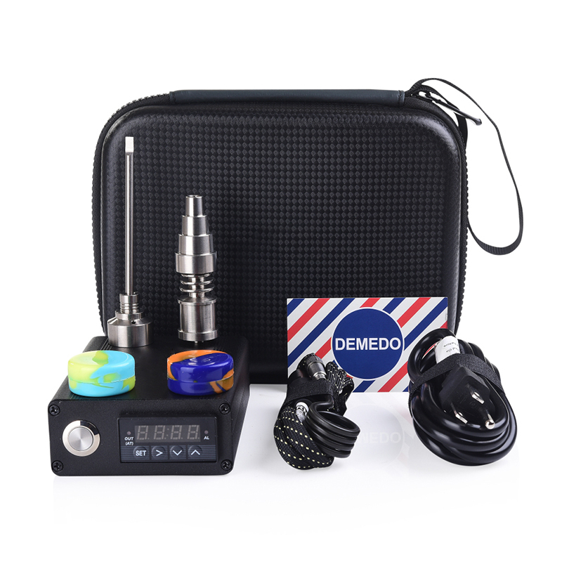 Electric 20mm Titanium Enail Kit With Titanium nail Carb Cap Dabber PID Temperature Control Silicone Jar Enail Dab E Quartz Nail
