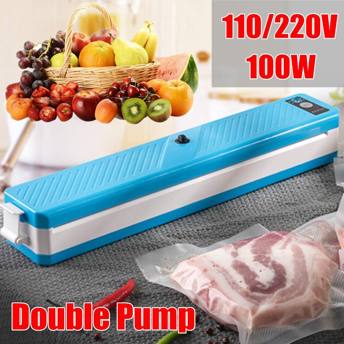 Electric Food Vacuum Sealer Packaging Machine 220V/110V Vaccum Food Sealing Packer For Kitchen Vacuum Food Plastic Storage Bags