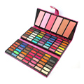 Pro 84 Colors Glittle Eyeshadow Blusher Makeup Palette PU Leather case Shimmer Eyeshadow Concealer Mineral Cosmetic Make up Kit